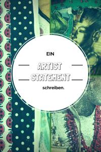 ein artist statement schreiben