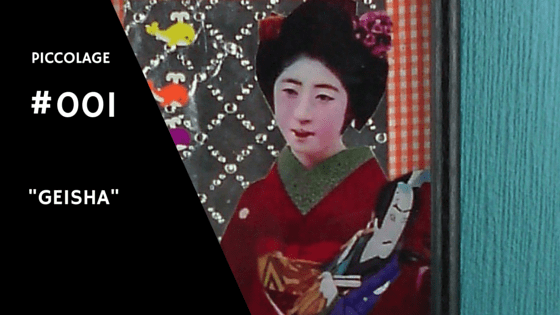 "Collage Kunst ""Geisha"""