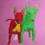 pop art bull terrier