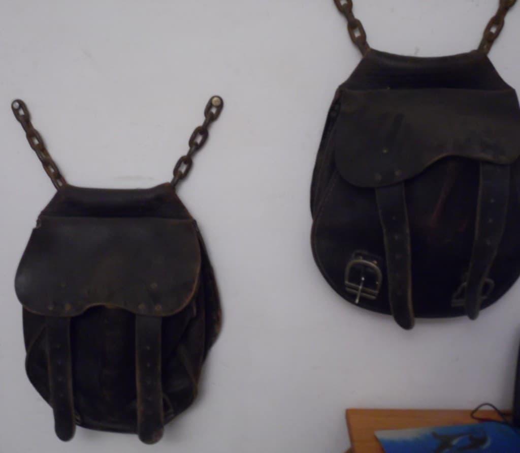 Satteltaschen aus Leder