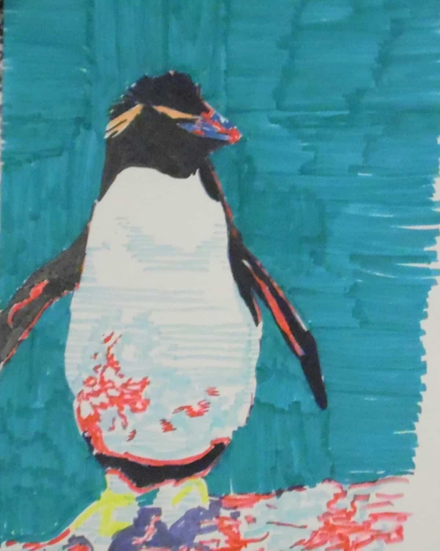 Illustratio Pop Art Penguin