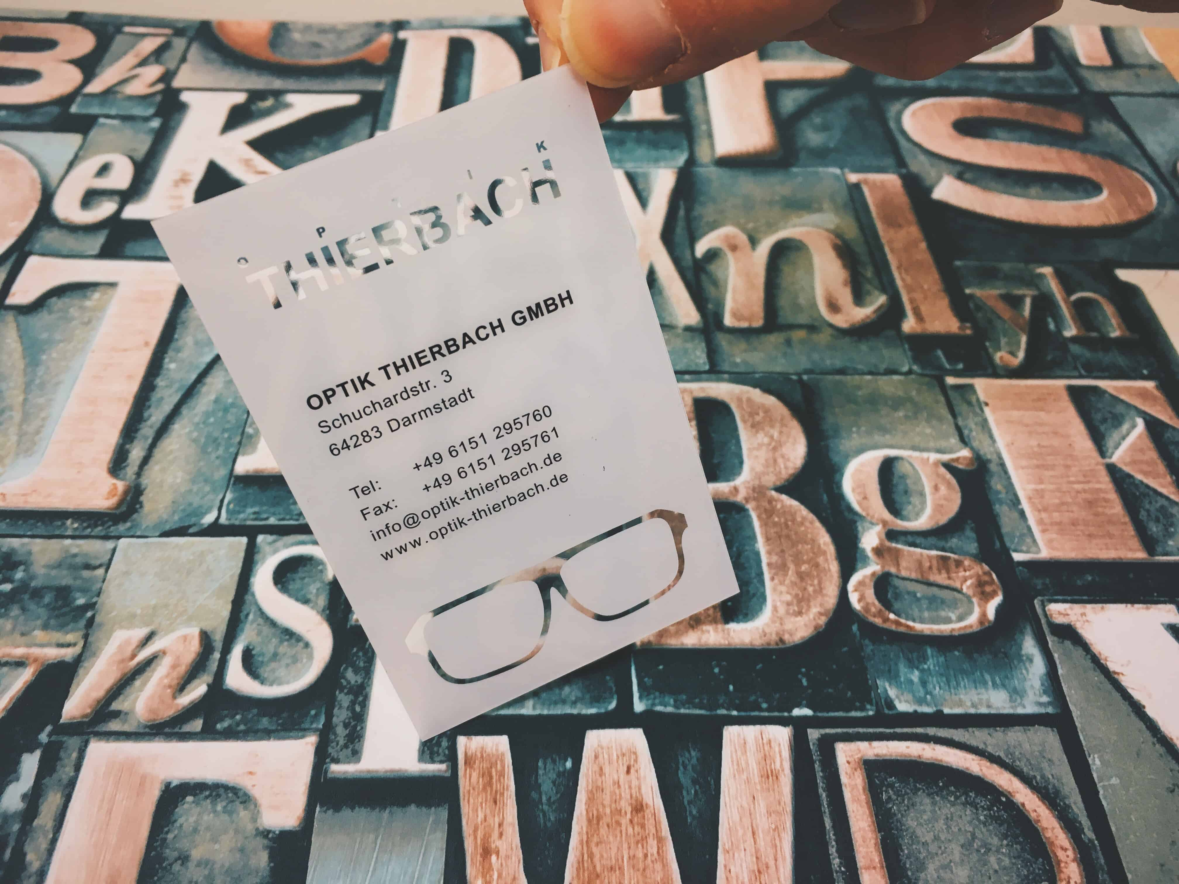 Transparente Visitenkarten Kleckerlabor